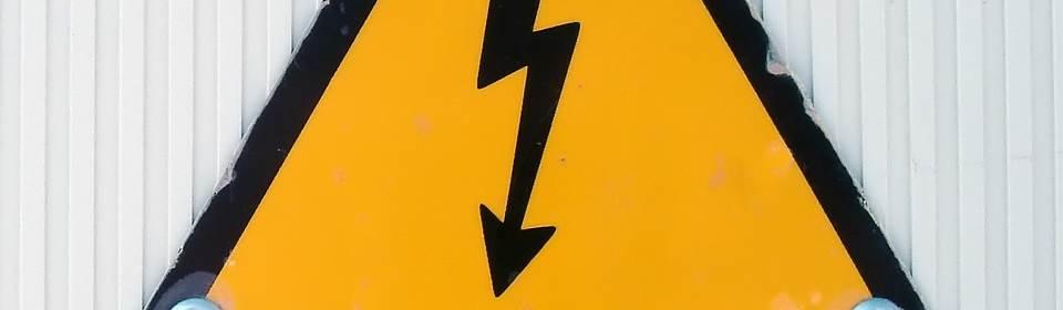 Waarschuwingsbord gevaarlijke elektra